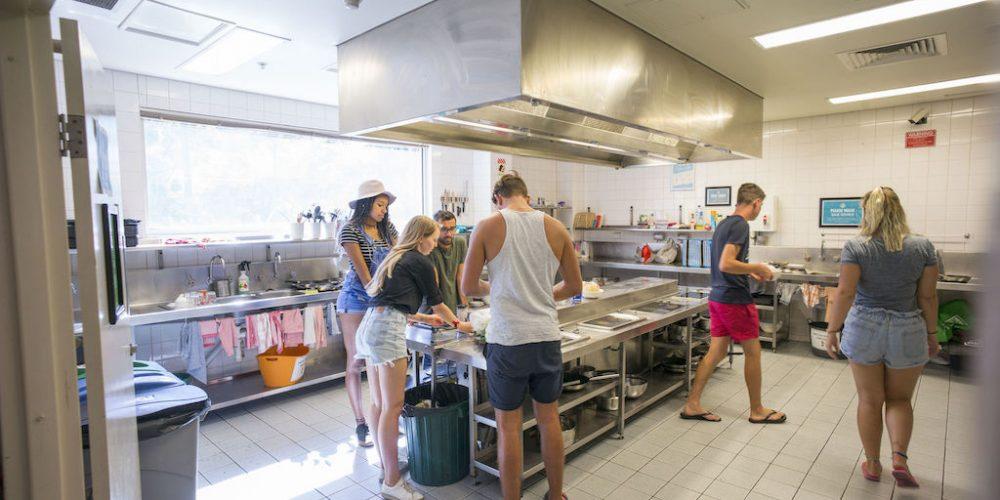Gemeenschappelijke keuken Melbourne YHA