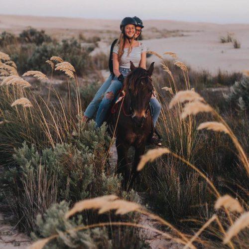 Paardrijden langs het strand van Jeffreys Bay