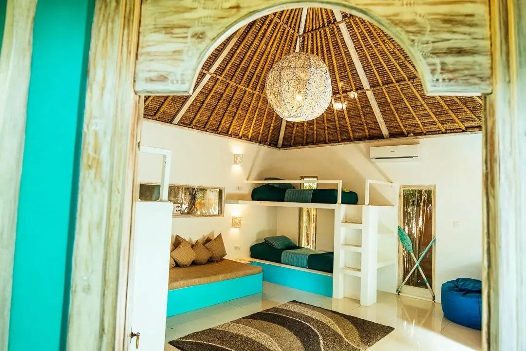 Padang Padang surfkamp gedeelde kamer