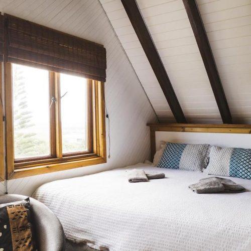 Slaapkamer surfkamp Zuid-Afrika