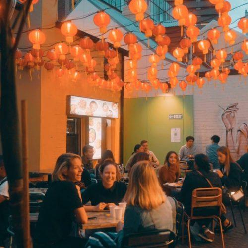 Spice Alley diner tijdens werkvakantie