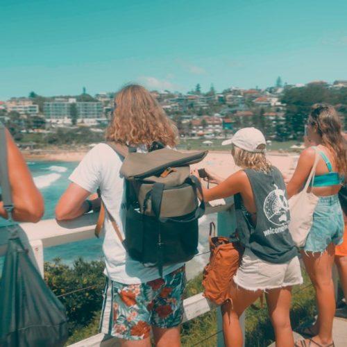 Wandeling langs de kust van Sydney tijdens werkvakantie