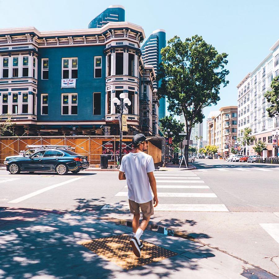 Ga mee de stad verkennen in Californie