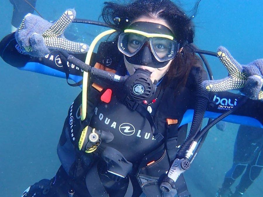Tijdens het Rifbehoud project duiken op Bali